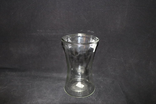"8"" Clear Gathering glass vase"