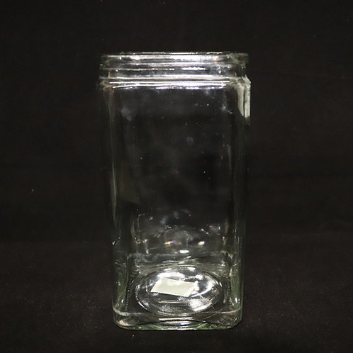 """4x8"""" Machine Made Square Vase"""