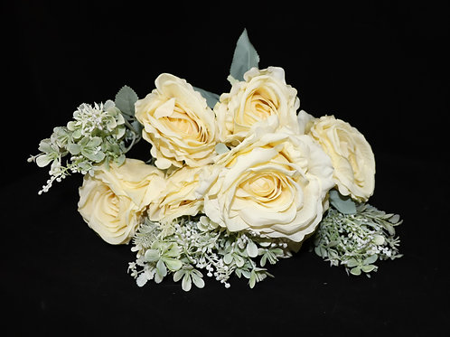 Yellow Silk Roses Bouquet