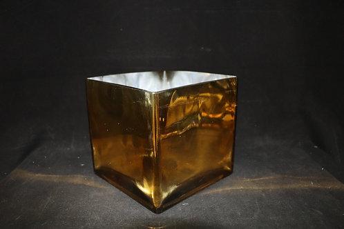 "7x7"" Gold Square vase"