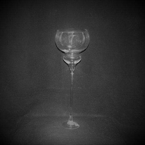 "24"" Glass Bowl w/Stand"