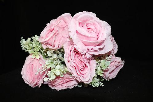 Pink Silk Roses Bouquet