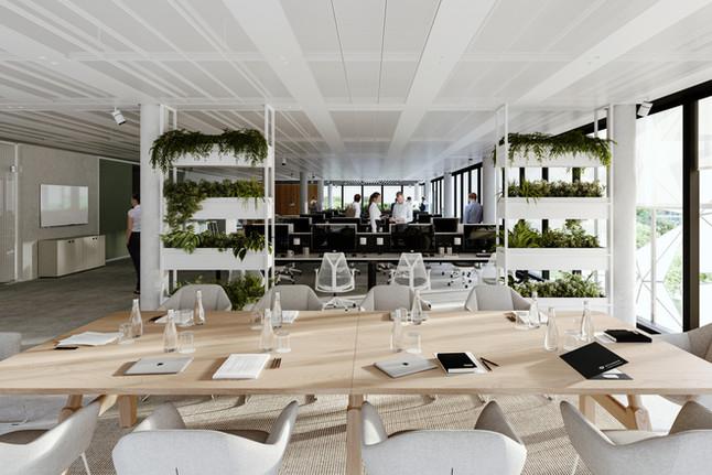 Office space.  Serge Ferrari textile Soltis Master 99
