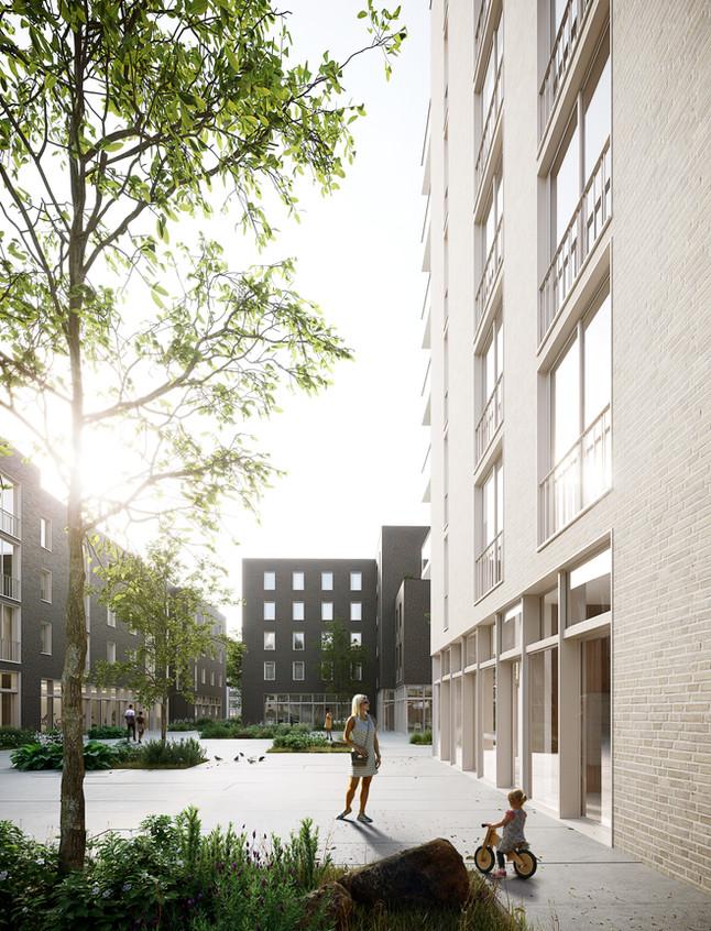Apartment building in Paris, France