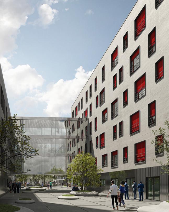 Office building. Serge Ferrari textile Soltis 92