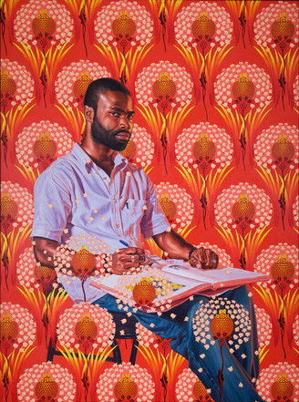 Saint Gregory the Great , 2018 - Kehinde Wiley Oil on canvas  270 x 208 cm  Private collection  Copyright the artist. Photo by Colin Wan.