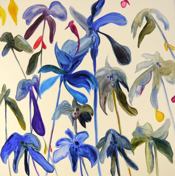 Chloë Manasseh, Feet Planted, 2018, Oil on linen, 183 x 183 cm.
