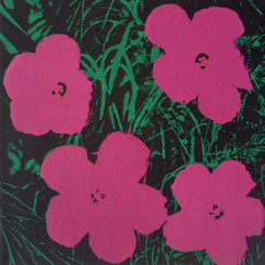 Warhol Flowers #8 (1969/1970) by Elaine Sturtevant