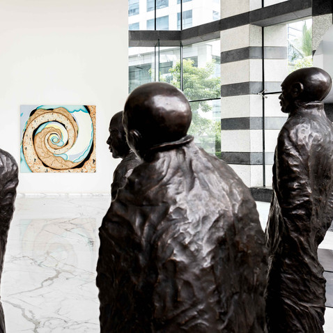 Artworks in JSW Group Office in Bandra Kurla Complex in Mumbai