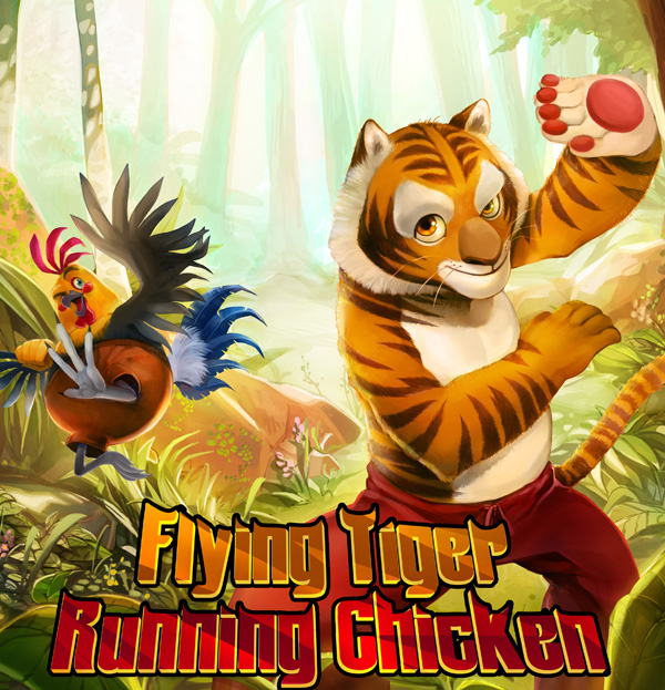 Flying Tiger Running Chicken