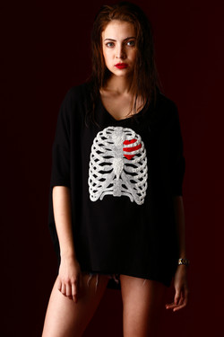 Rib Cage Hand Embroidered loose Jers