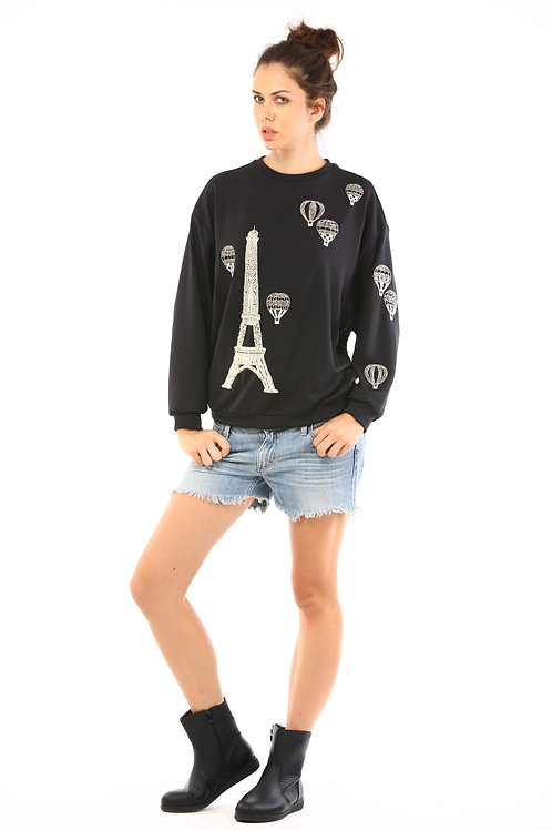 Ballonning Over Paris Sweatshirt