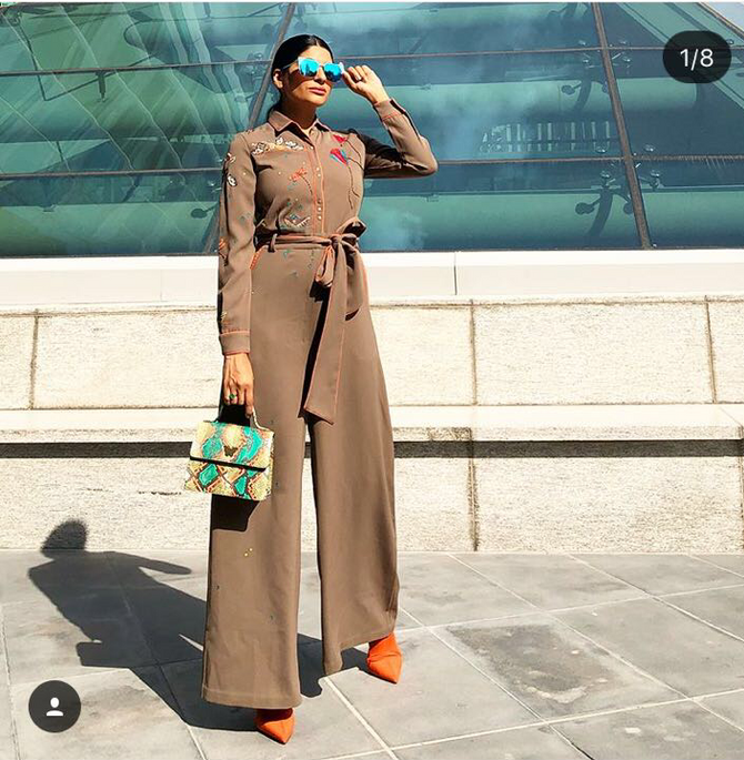 Farhana Bodi looking absolutely gorgeous in our childhood memories jumpsuit