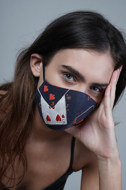 PLAYING CARDS MASK - SMK041/W