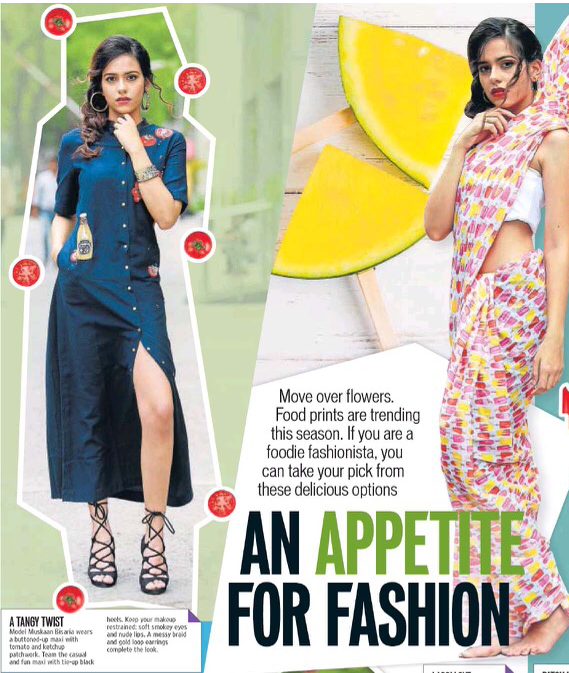 Our 'Heinz Tomato' Long Tomato Shirt Dress Got Featured in Hindustan Times #shahinmannan
