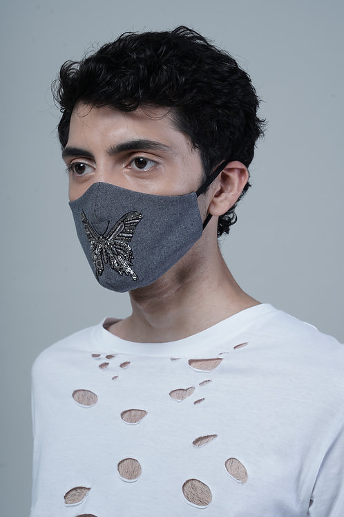 EMBELLISHED BUTTERFLY MASK - SMK009-A/M