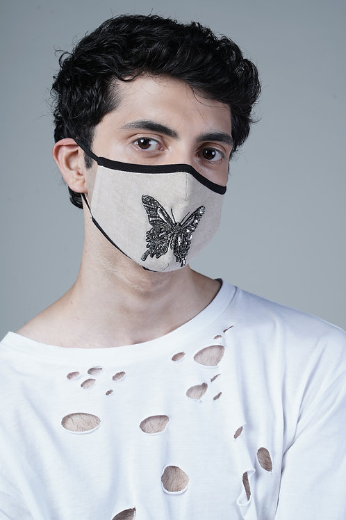 EMBELLISHED BUTTERFLY MASK - SMK009/M