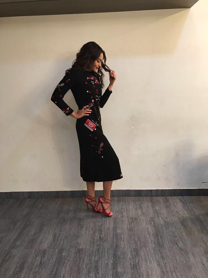 Sonakshi Sinha InKit Kat Midi Dress