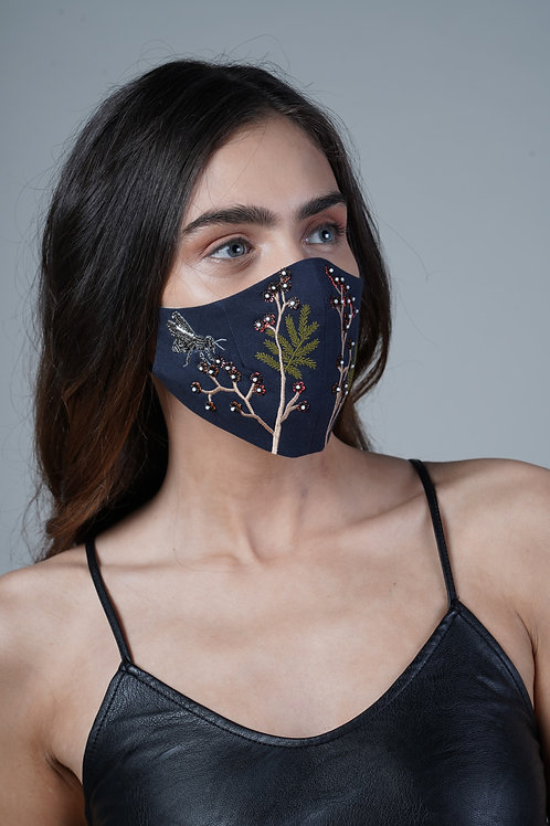 WILD FLOWERS AND BEE MASK - SMK047/W