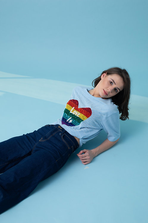 RAINBOW LOVE T SHIRT
