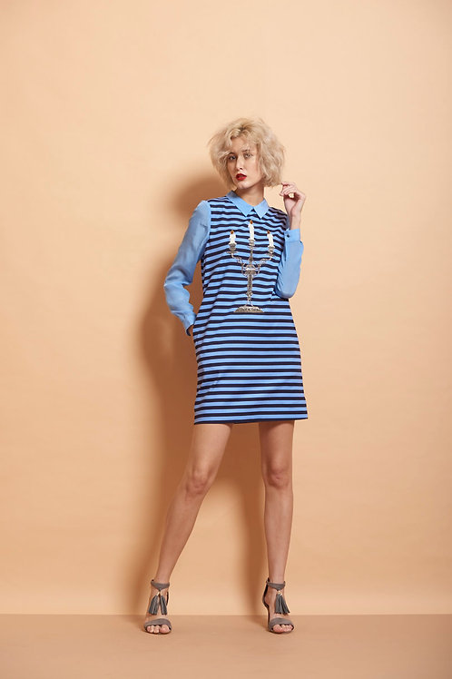 Candle Stand Striped Mini Dress