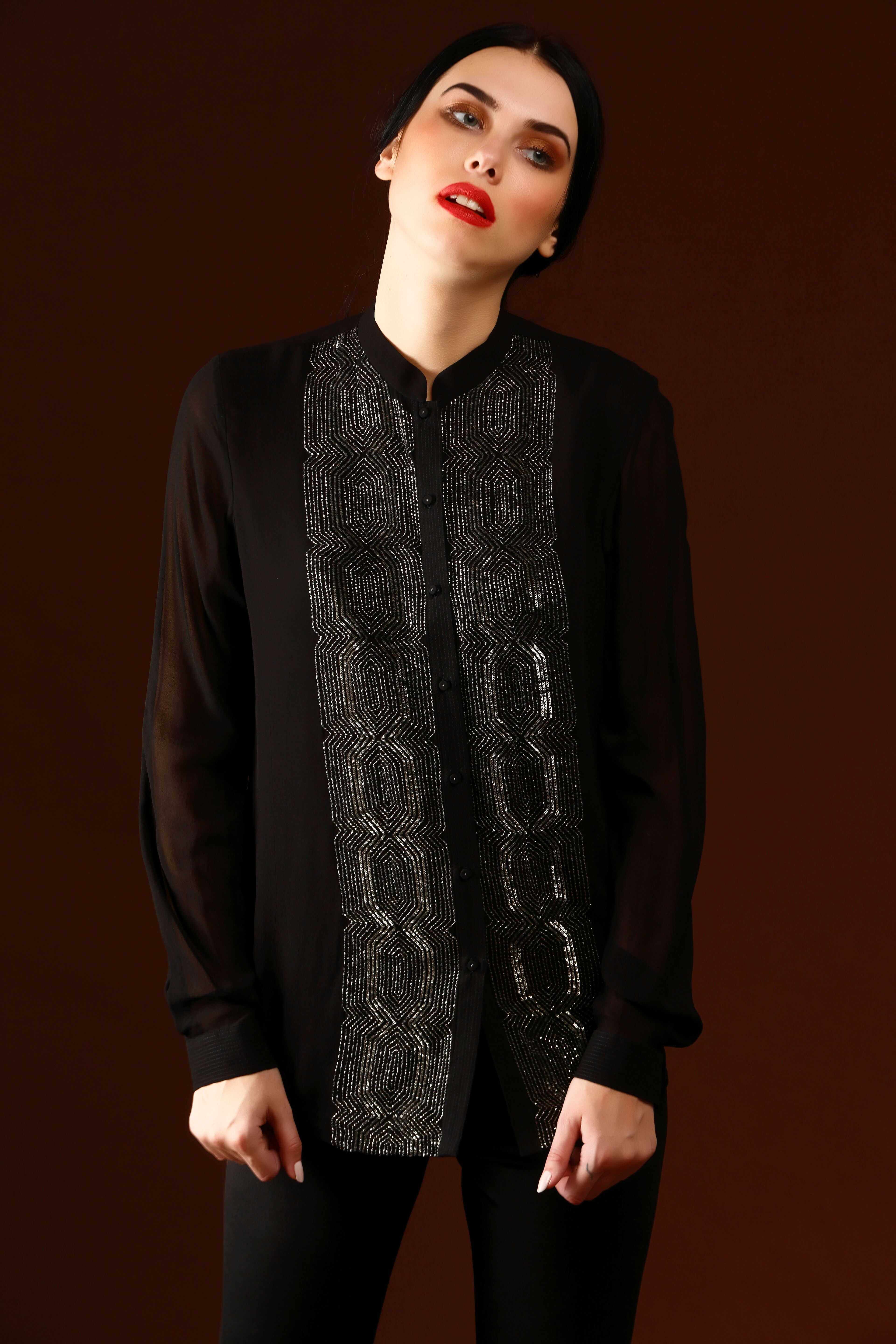 Geometric Central Panel Shirt