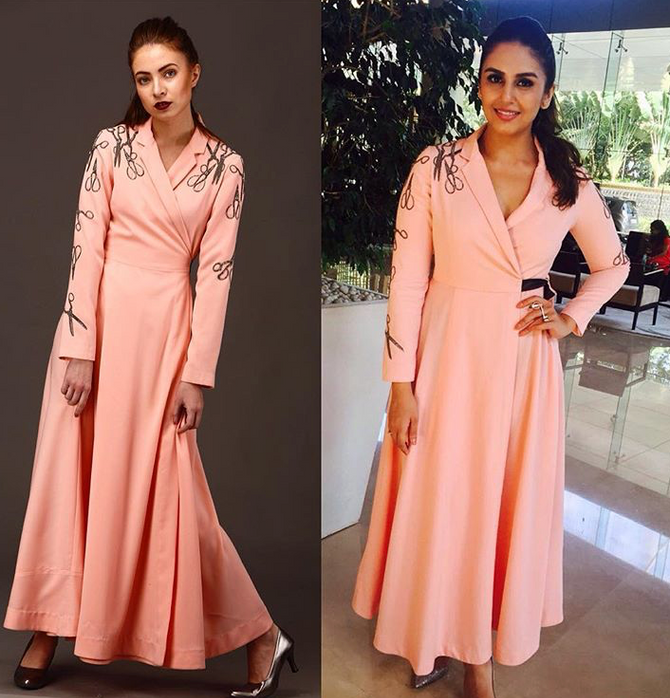 Huma Qureshi Looks Elegant In Our Scissor Placement Dress