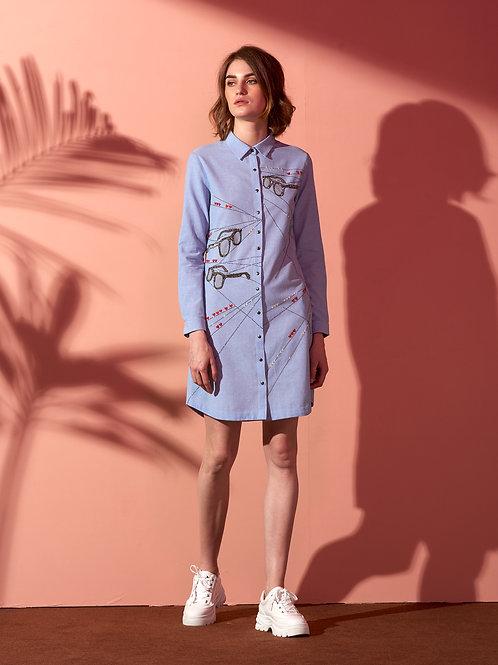 SUNGLASS SHIRT DRESS