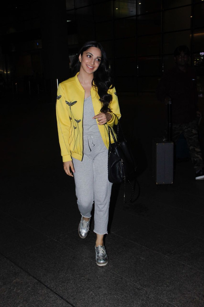 Actress Kiara Advani In 'Insect Prism' Bomber Jacket