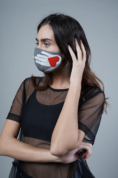 HEART HAND MASK - SMK011/W