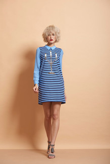 Candle Stand Stripped Mini Dress