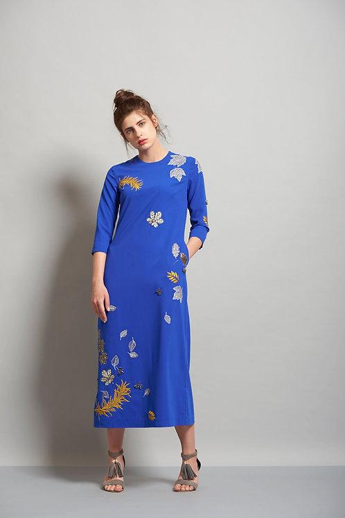 Falling Leaves Midi Dress