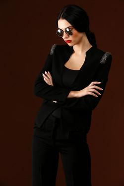 Shoulder Embellished Blazer
