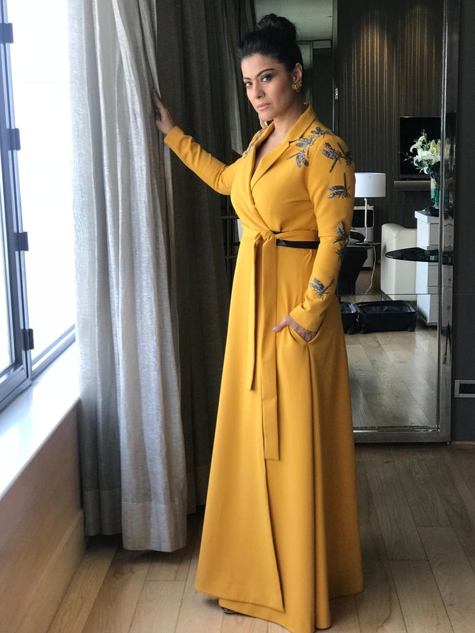 Evergreen Actress Kajol Wearing Our 'Half Dragonfly Wrap Dress'