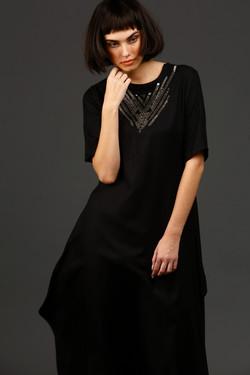 Asymmetric long tunic