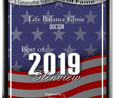 Life Balance Clinic Receives 2019 Best of Glenview Award