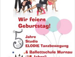 Wir feiern 5. Geburtstag und die Ballettschule ihr 18. Jubiläum!