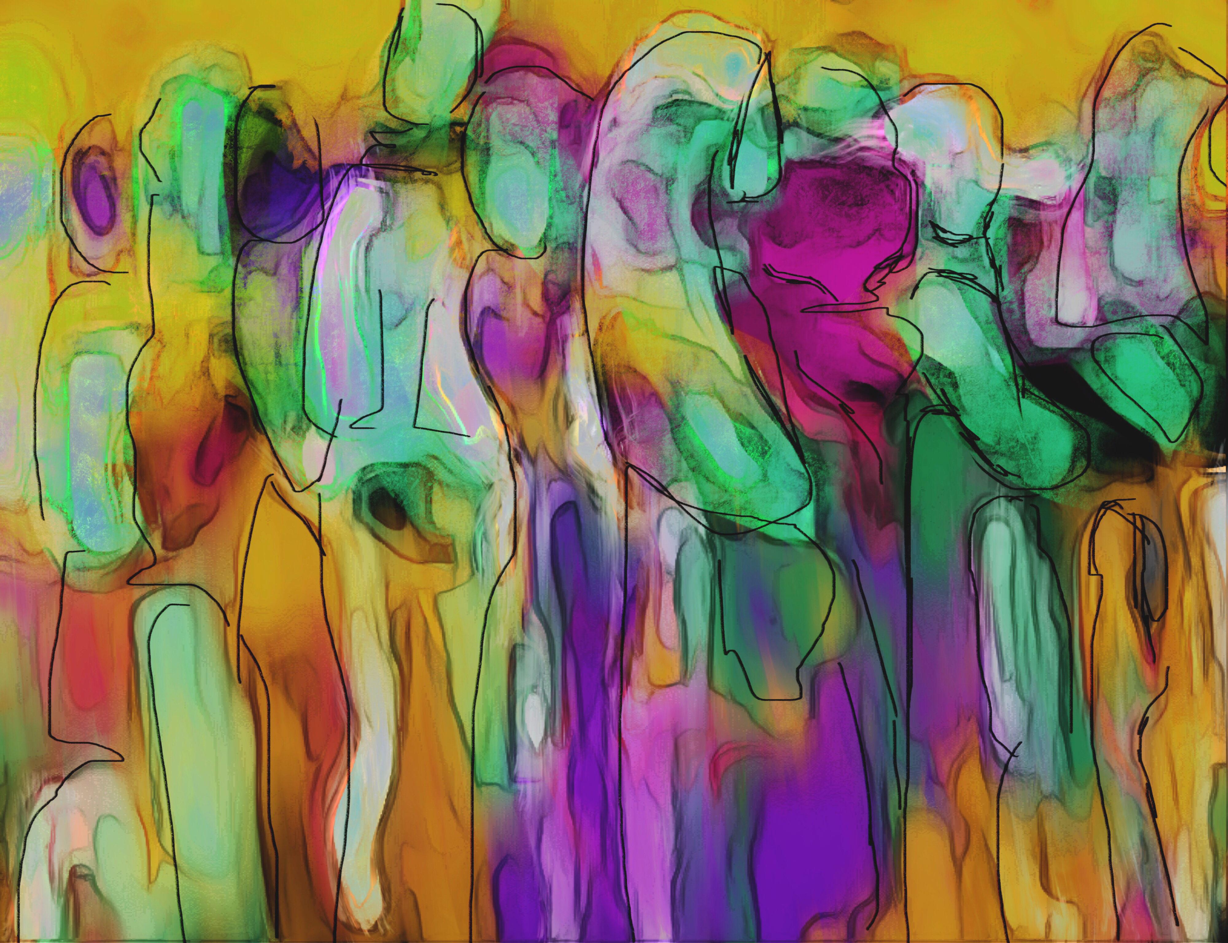 Traveling Souls Digital Painting