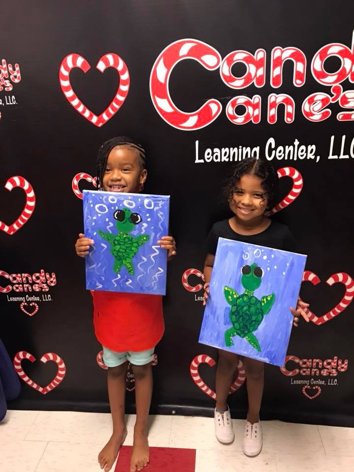 Candy Cane's Learning Center 1st Family Paint Par