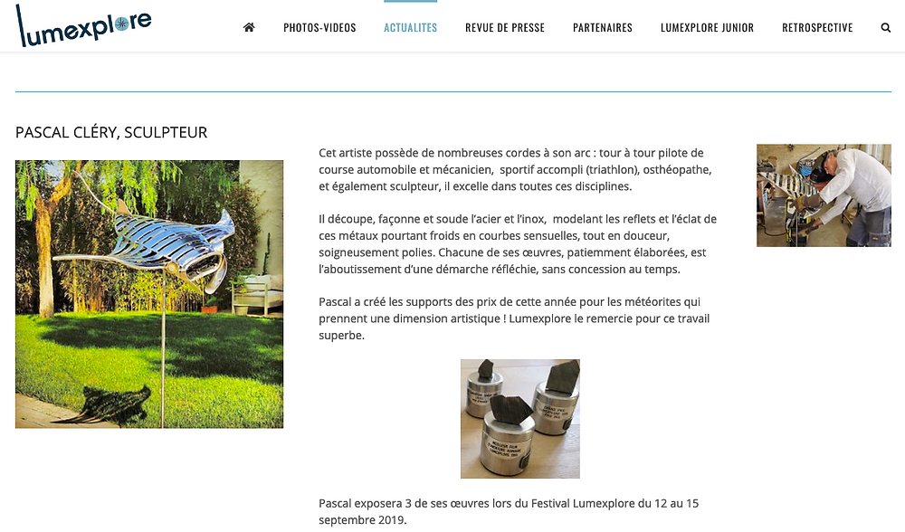 Festival Lumexplore 2019 La Ciotat - www.clerysculptures.com - Pascal Cléry