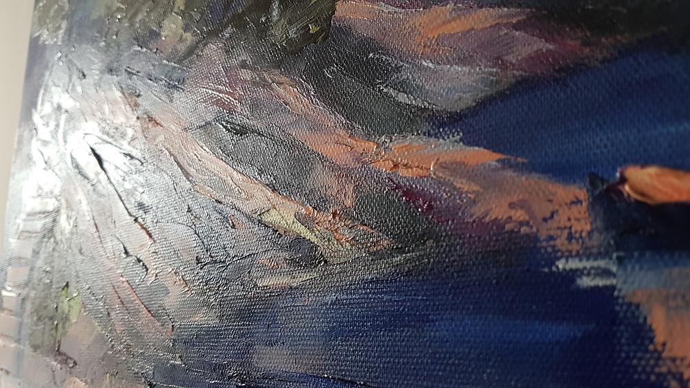Clery détails peinture à l'huile Port D'alon