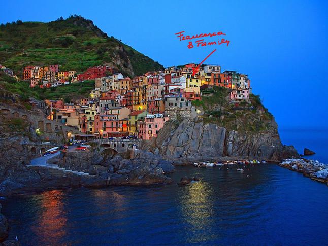 Cinque Terre (Italy) and my cousin Francesca