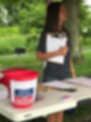 Rene at McNamara Park gathering signatures to be placed on the ballot