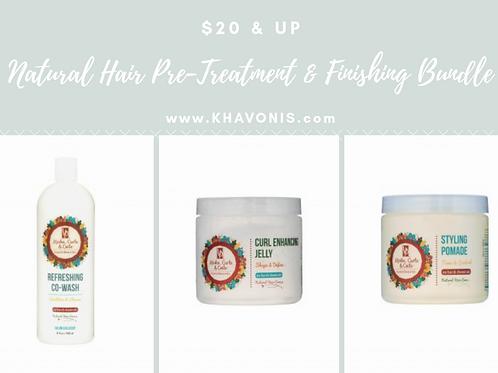 Natural Hair Care Pre-Treatment & Finishing Bundle