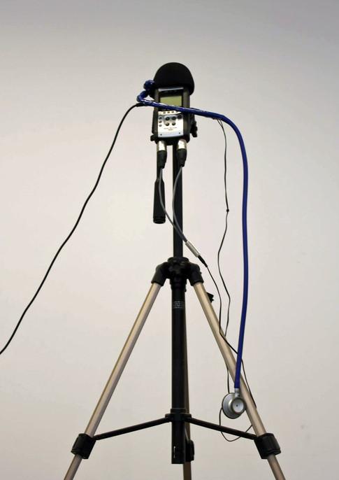 Stéthoscope micro et enregistreur numérique.