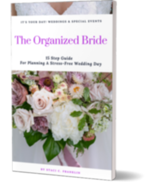 The Organized Bride  E-Book Free Online Planing It's Your Day Professional Wedding Event Planner Memphis Tenesse Corporate Events Weddings Parties