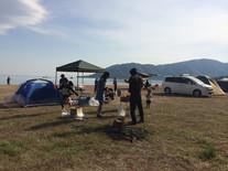 景色抜群!琵琶湖の目の前でBBQ