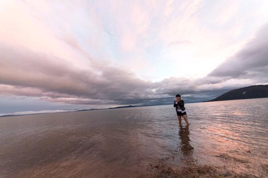 遠浅の琵琶湖