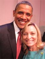 Nancy with Barack Obama