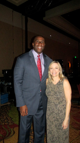 Nancy with Magic Johnson